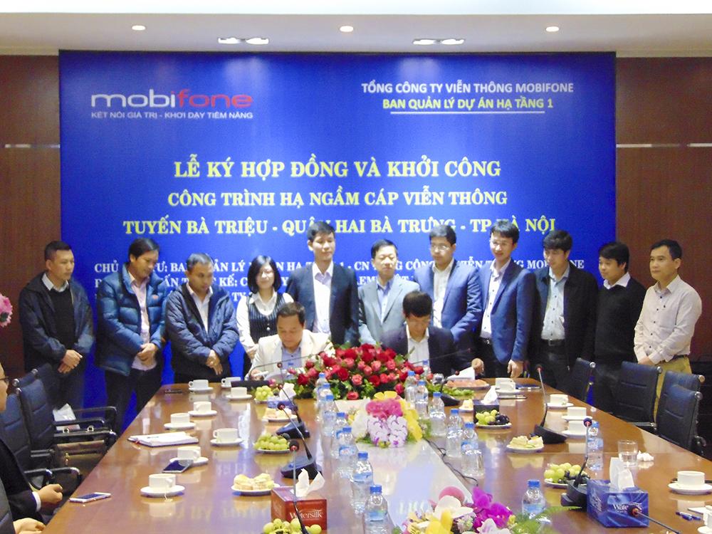 Lễ kí hợp đồng và khởi công , công trình hạ ngầm cáp viễn thông  tuyến Bà Triệu - Quận Hai Bà Trưng - Hà Nội