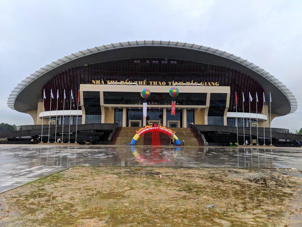 Màn hình nhà thi đấu Bắc Giang